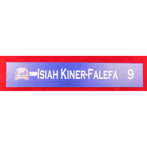 Final Season Game-Used Locker Tag - Isiah Kiner-Falefa - 9/13/19 vs OAK