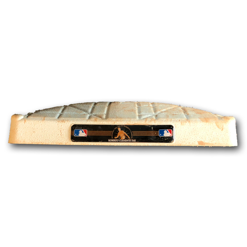 Photo of Game-Used 3rd Base -- Used in Innings 1 through 4 -- Brewers vs. Cubs -- 8/31/19