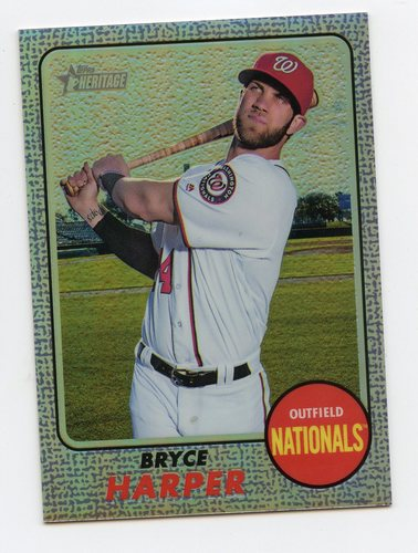 Photo of 2017 Topps Heritage Chrome Purple Refractors #THC427 Bryce Harper