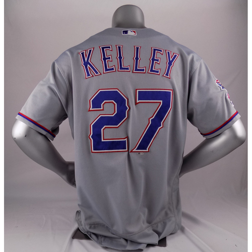 Photo of Final Season Game-Used Grey Jersey - Shawn Kelley - 9/5/19