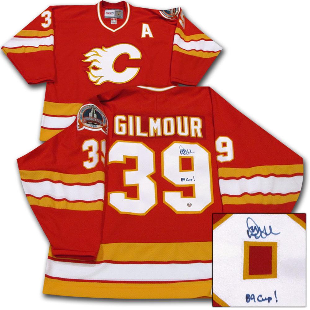 Doug Gilmour Autographed Calgary Flames Jersey w/89 CUP! Inscription