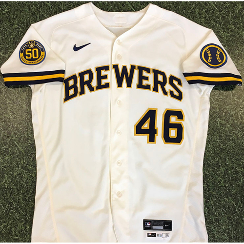 Photo of Corey Knebel 2020 Team-Issued Home Cream Jersey
