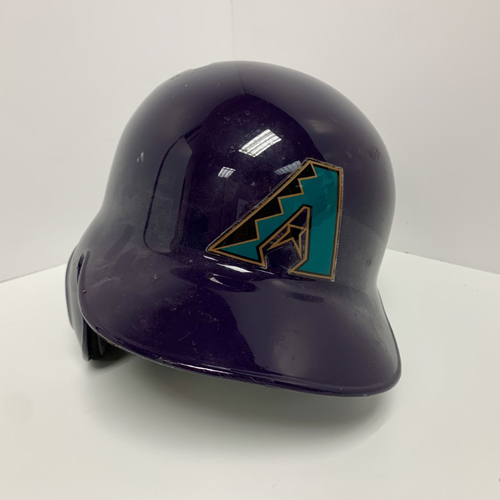 Photo of 2019 Team Issued (#4) Throwback Purple Batting Helmet