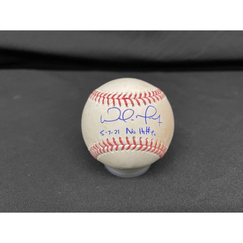 Photo of Wade Miley No-Hitter - *Autographed Game-Used Baseball* - Bot 6 - Wade Miley to Cesar Hernandez (Foul) - Inscribed as 5-7-21 No Hitter