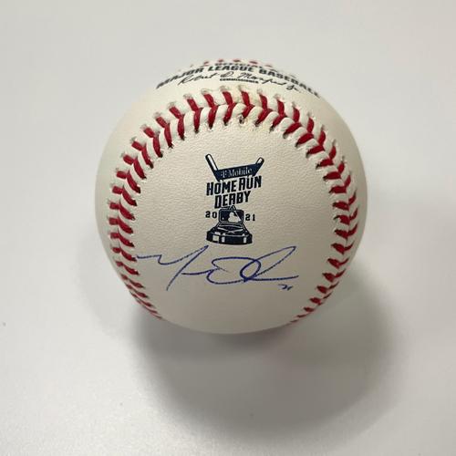 Photo of Matt Olson Autographed 2021 HR Derby Baseball