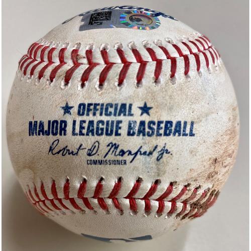 Photo of Game-Used Baseball: Alek Manoah Toronto Blue Jays Strikeout (MLB AUTHENTICATED)