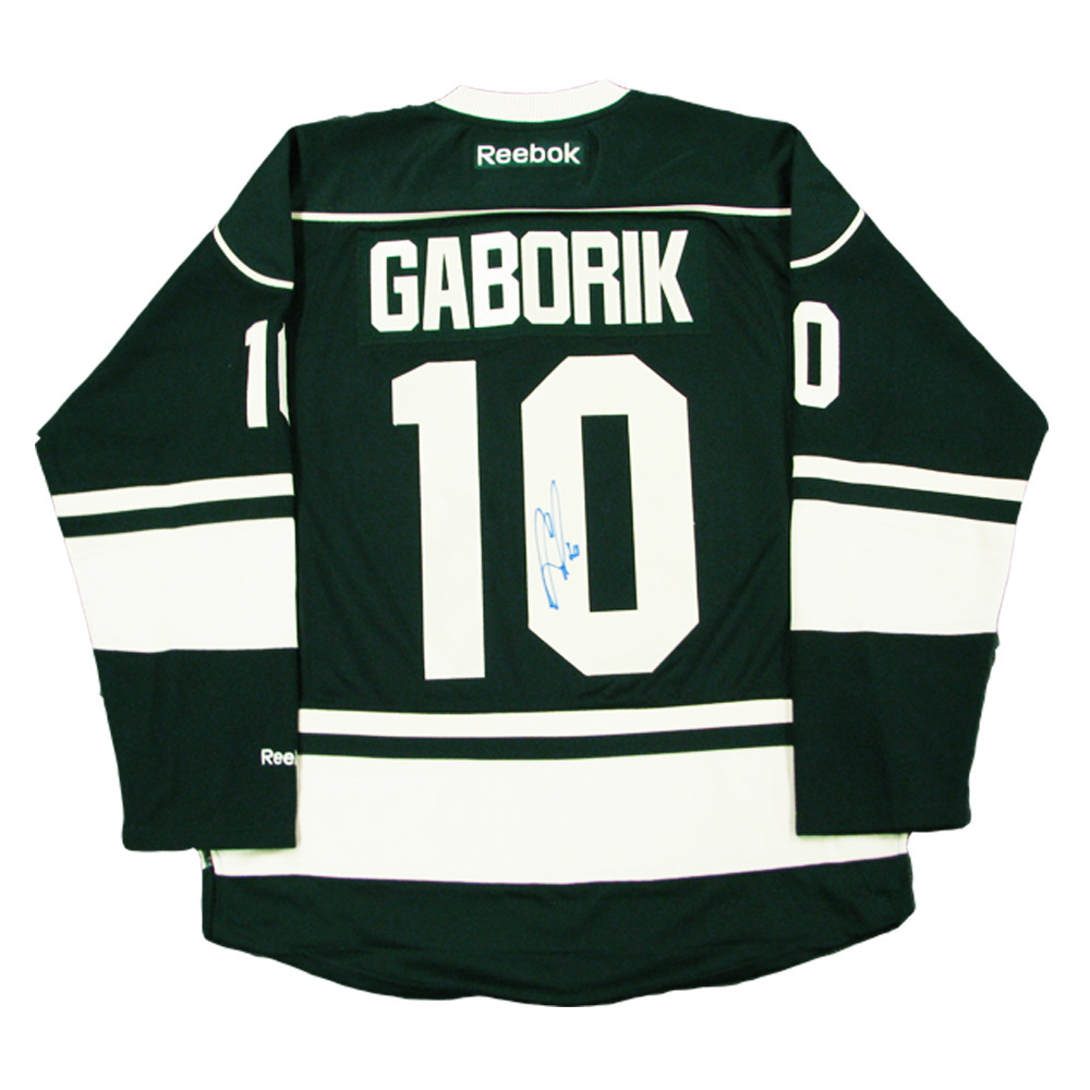 MARIAN GABORIK Signed Minnesota Wild Green Reebok Jersey - NHL Auctions bff7a5c42