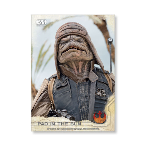 Pao in the Sun 2016 Star Wars Rogue One Series One Base Poster - # to 99