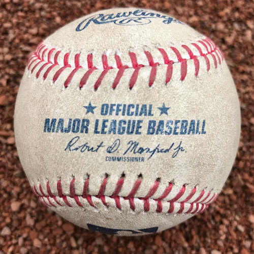San Francisco Giants - 2017 Game-Used Baseball - Michael Brantley 999th Career Hit (July 19th off Matt Cain, also Francisco Lindor lineout)