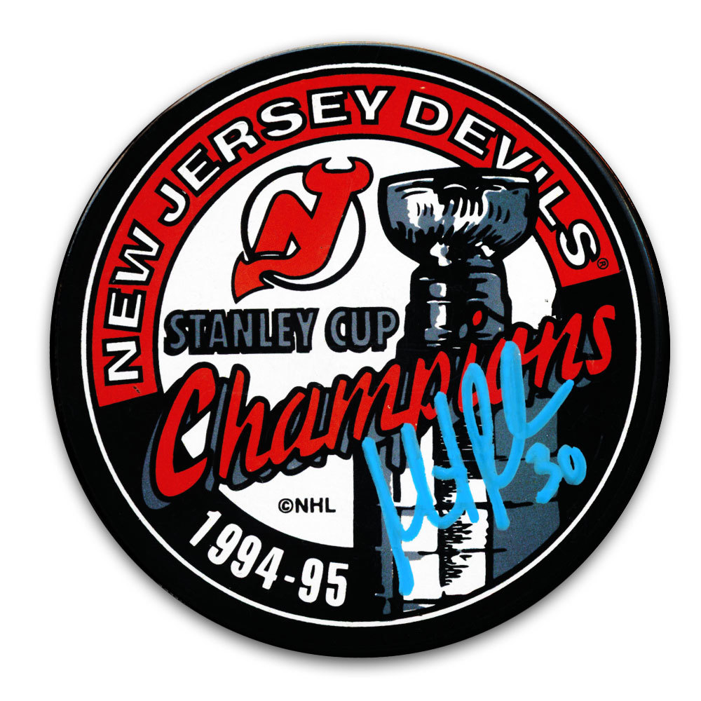 Martin Brodeur New Jersey Devils 1995 Stanley Cup Champions Autographed Puck