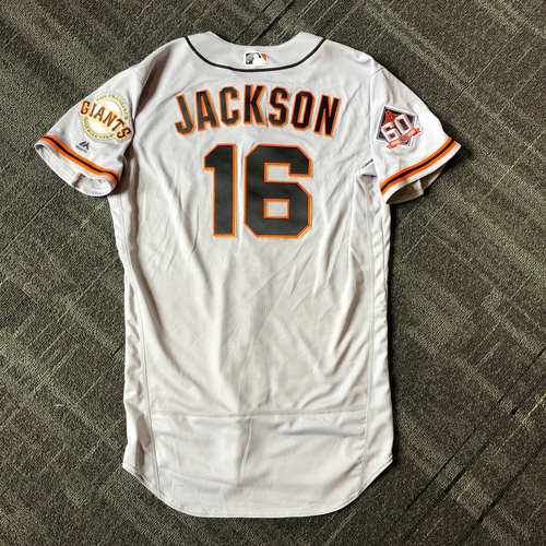 Photo of San Francisco Giants - Mother's Day Game-Used Jersey - #16 Austin Jackson (size 46)