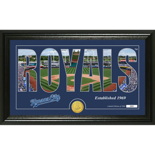 "Photo of Kansas City Royals ""Silhouette"" Panoramic Bronze Coin Photo Mint"