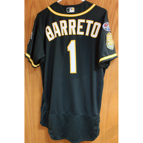 Photo of Game-Used Jersey: Franklin Barreto AL Wild Card Game 10/3/18