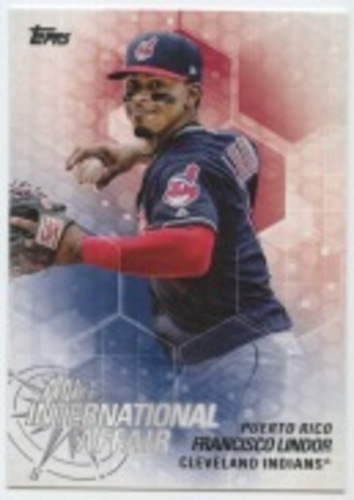 Photo of 2018 Topps Update An International Affair #IA34 Francisco Lindor
