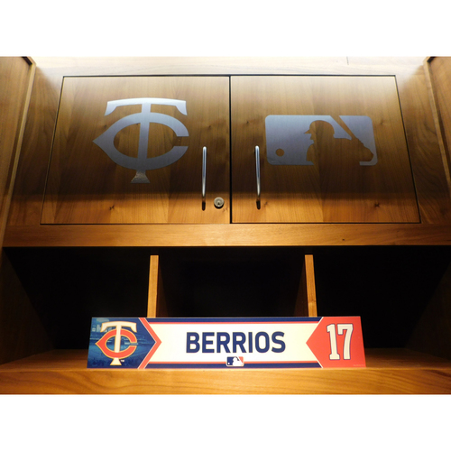 Photo of 2018 Jose Berrios Team-Issued Locker Name Plate