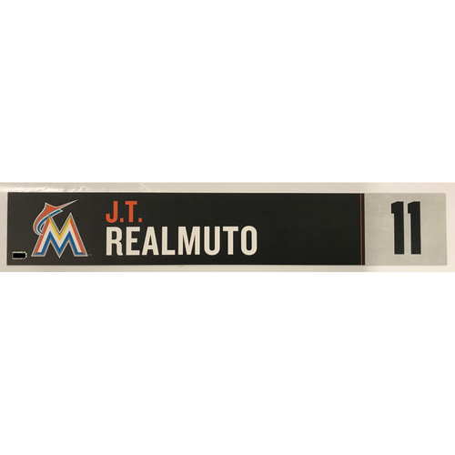 Photo of Game Used Locker Tag: J.T. Realmuto