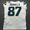 NFL - Seahawks Darrell Daniels London Games Game Used Jersey Size 44 (10/14/18)