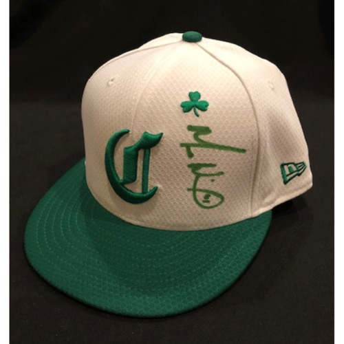Photo of Matt Wisler -- Autographed & Game-Used Cap -- 2019 St. Patrick's Day