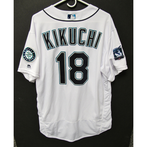 Photo of Seattle Mariners 2019 Yusei Kikuchi Game-Used Jersey - Edgar Martinez Hall of Fame Celebration Weekend - August 9-11
