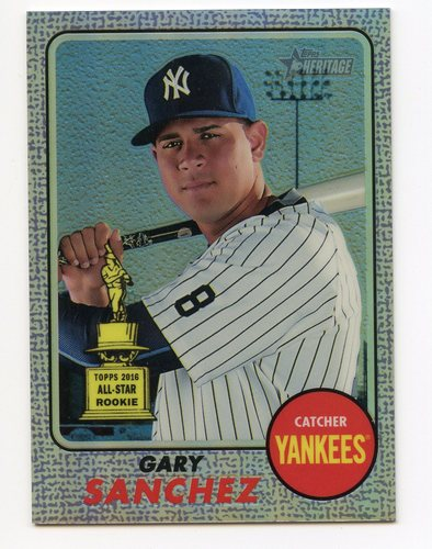 Photo of 2017 Topps Heritage Chrome Purple Refractors #THC444 Gary Sanchez