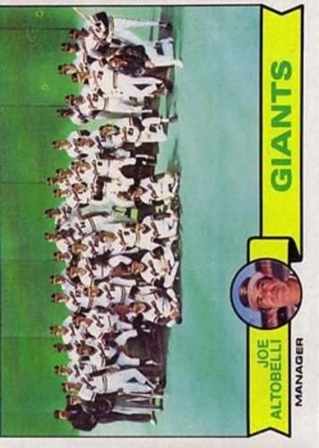 Photo of 1979 Topps #356 San Francisco Giants CL/Joe Altobelli MG