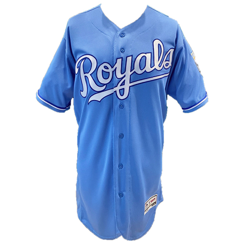 Photo of Kansas City Royals Team-Issued Majestic Jersey - Powder - Choose Your Size!