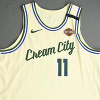 Brook Lopez - Milwaukee Bucks - Game-Worn City Edition Jersey - 2019-20 NBA Season Restart with Social Justice Message