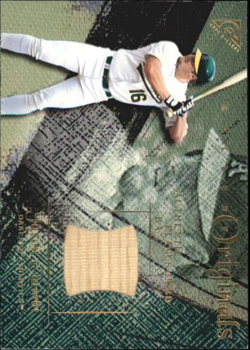 Photo of 2001 Topps Gallery Originals Game Bat #GRJG Jason Giambi