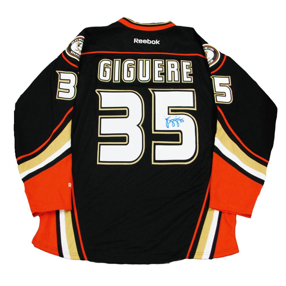J.S. GIGUERE Signed Anaheim Ducks Black Reebok Jersey