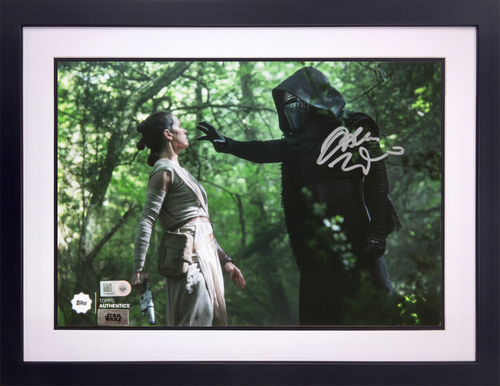 Adam Driver as Kylo Ren Autographed in Silver Ink 8x10 Framed Photo