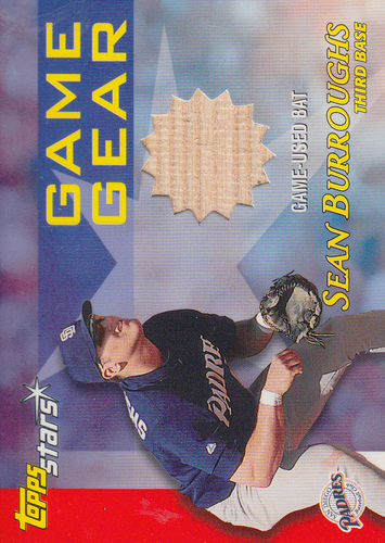 Photo of 2000 Topps Stars Game Gear Bats #GGB2 Sean Burroughs B