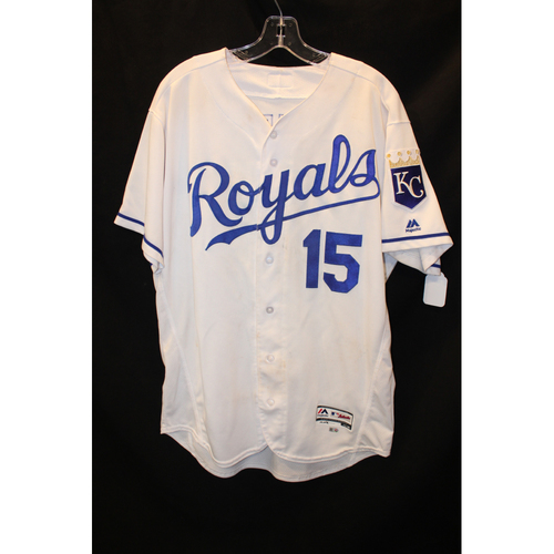 Photo of Game-Used Jersey: Whit Merrifield 10th Career Home Run & 64th Career RBI (Size 46 - DET at KC - 7/20/17)