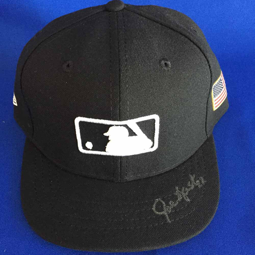 Photo of UMPS CARE AUCTION: Joe West Signed American Flag Plate Cap - Size 7 1/8 - Not MLB Authenticated