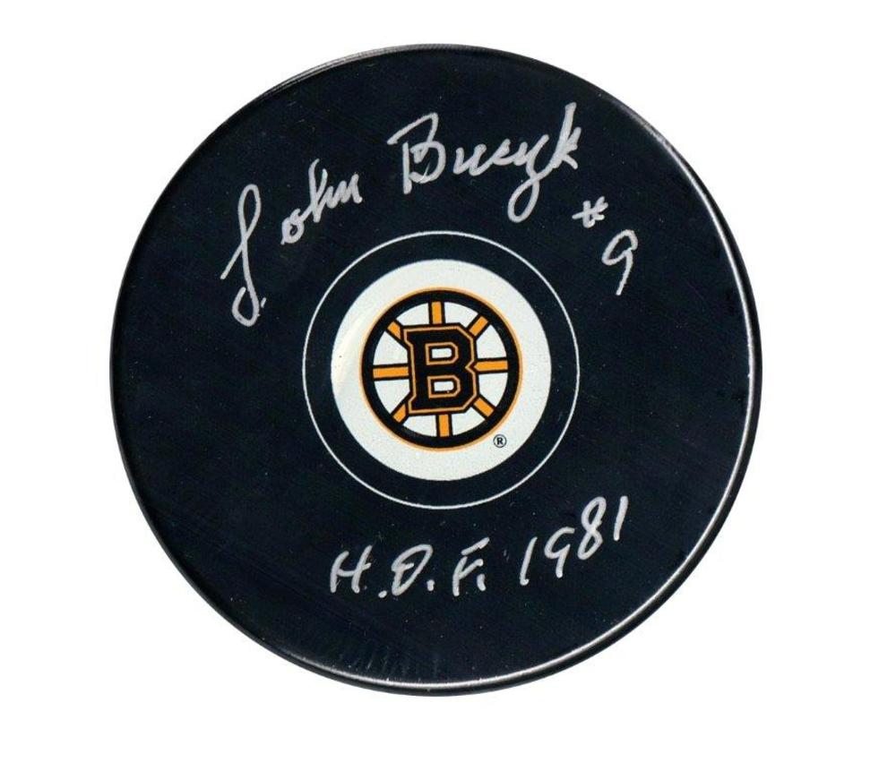 Johny Bucyk Signed Puck Bruins Insc