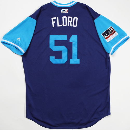 "Photo of Dylan ""Floro"" Floro Los Angeles Dodgers Game-Used 2018 Players' Weekend Jersey"