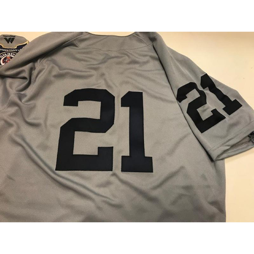 Photo of Game-Used 1968 World Series 50th Anniversary Jersey: JaCoby Jones