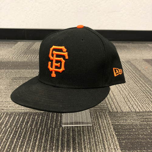 Photo of San Francisco Giants - 2018 Game Used Regular Season Cap - worn by #19 Alen Hanson - size 7 3/8