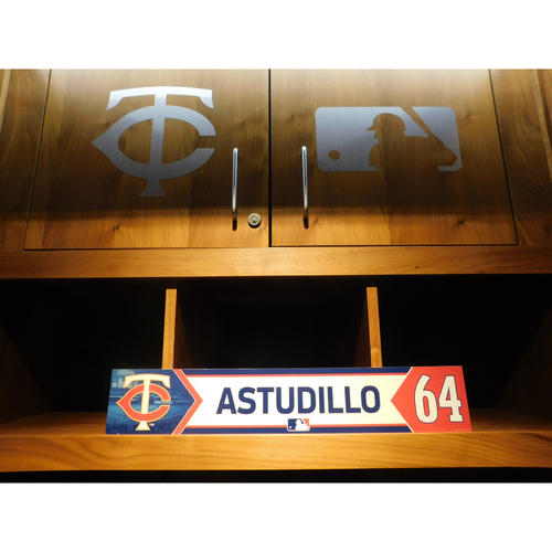 Photo of 2018 Willians Astudillo Game-Used Locker Name Plate