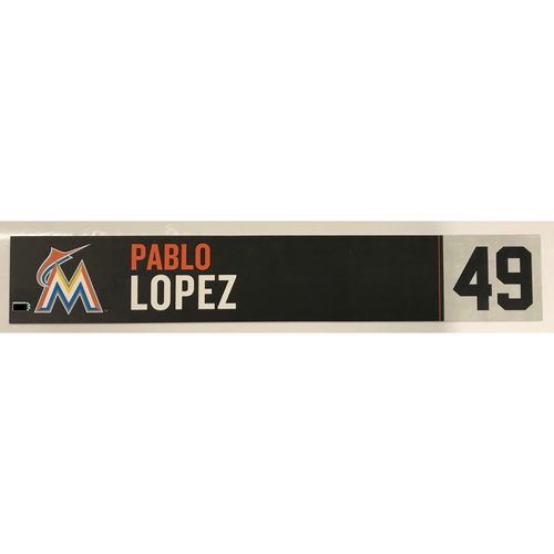 Photo of Game Used Locker Tag: Pablo Lopez
