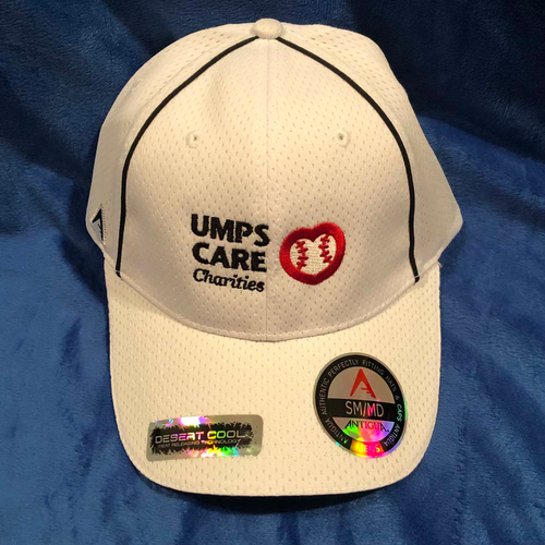 Photo of UMPS CARE AUCTION: UMPS CARE Baseball Cap, White with Black Piping, Size S/M