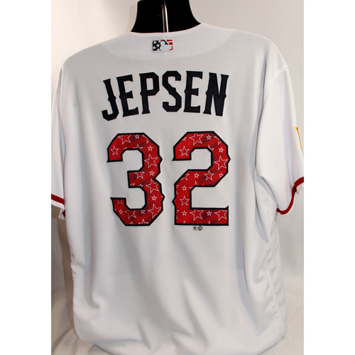 Photo of Team-Issued July 4th Jersey - Kevin Jepsen - 7/4/18