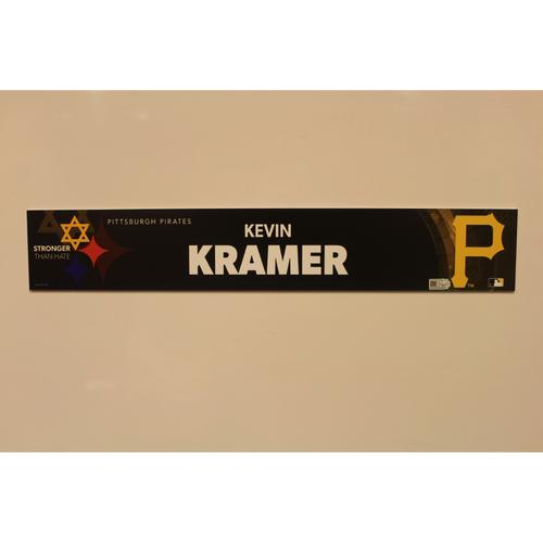 Photo of 2019 Game Used Locker Nameplate - Kevin Kramer