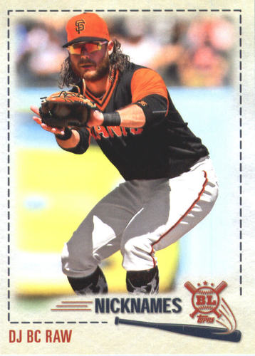 Photo of 2019 Topps Big League Players Weekend Nicknames #PW10 Brandon Crawford