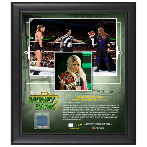 Photo of Money In The Bank 2018 Alexa Bliss Limited Edition 15x17 Plaque (#1 of 250)