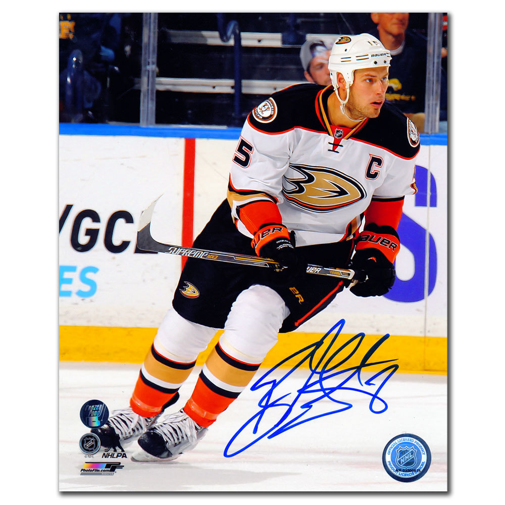 Ryan Getzlaf Anaheim Ducks WHITE JERSEY Autographed 8x10