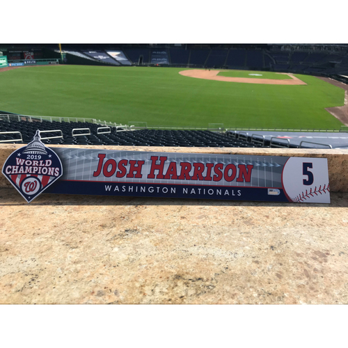 Photo of Josh Harrison Game-Used 2020 Locker Tag