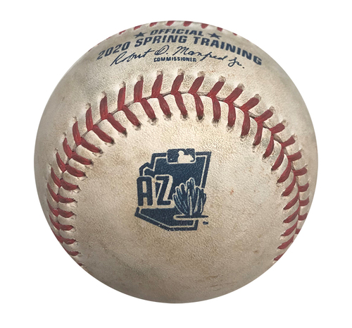 Photo of 12 Days of Auctions: Day 11 -- Game-Used Baseball -- Yu Darvish to Greg Garcia, Pitch in Dirt, Top 2 -- Last 2020 Cubs Spring Training Game Before COVID -- Padres vs. Cubs -- 3/11/20