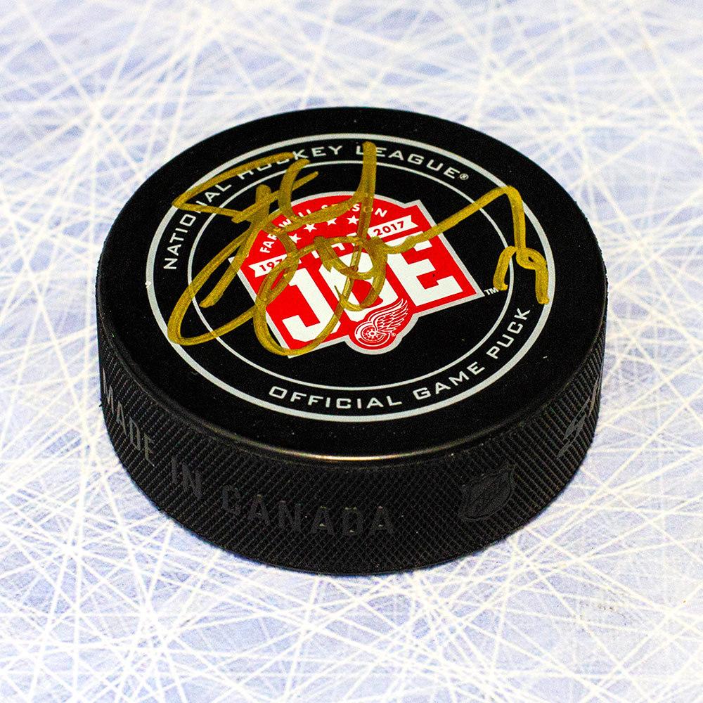 Steve Yzerman Detroit Red Wings Autographed Joe Louis Arena Last Season Game Puck