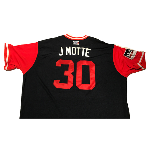 "Photo of Jason ""J Motte"" Motte Atlanta Braves 2017 Game-Used Players Weekend Jersey"