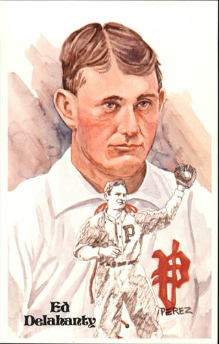 Photo of 1980-02 Perez-Steele Hall of Fame Postcards #33 Ed Delahanty -- HOF Class of 1945